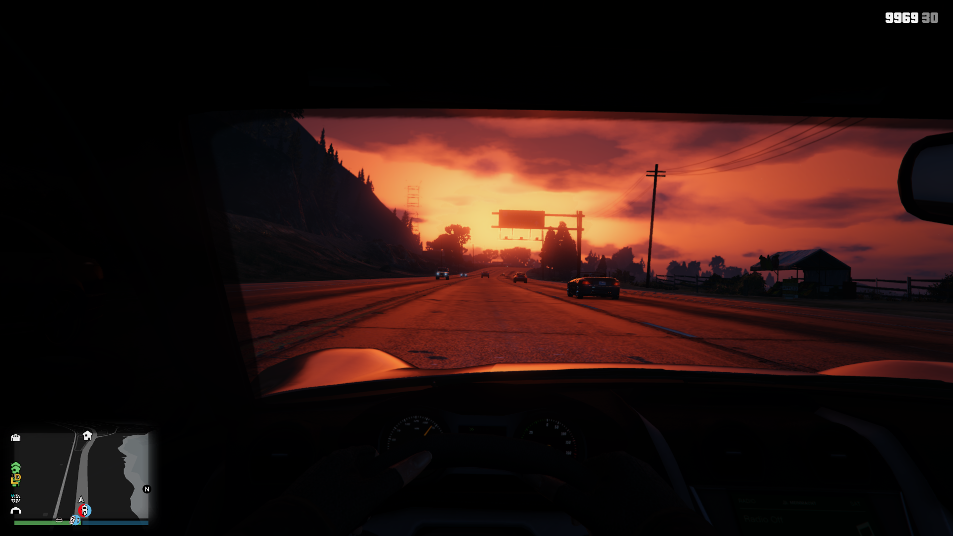 Going out for a nice sunset drive
